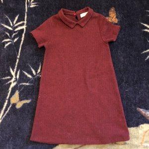 Zara Kids Burgundy Dress.